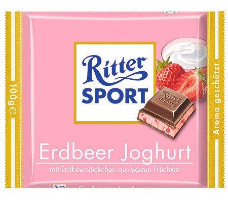 Ritter Sport Ritter Sport Erdbeer Joghurt 100 Gram