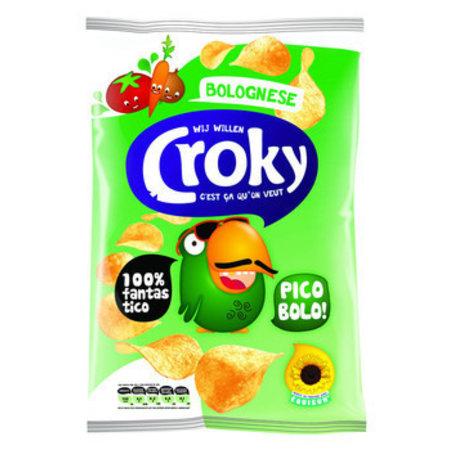 Croky Croky Chips Bolognese 100 Gram 12 Zakken