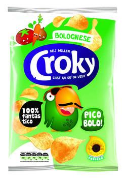 Image of Croky Croky Chips Bolognese 100 Gram 12 Zakken 78152549