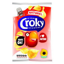 Croky Chips Natural 100 Gram 12 Zakken