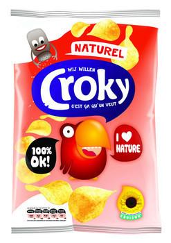 Croky Croky Chips Natural 100 Gram 12 Zakken