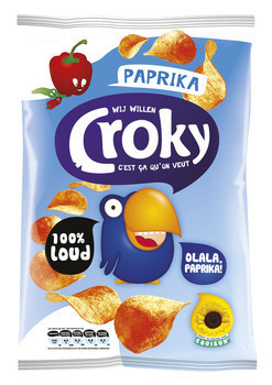 Image of Croky Croky Chips Paprika 100 Gram 12 Zakken 78152564