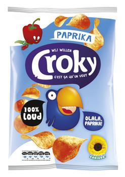 Croky Croky Chips Paprika 40 Gram 20 Zakken