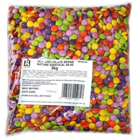 Milk Chocolate Beans (Smartie Look A Like) 3 Kilo