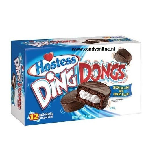 Hostess Hostess Ding Dongs Chocolate Cake 10 Stuks 360 Gram