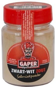 Gaper Gaper Zwart Wit Zout Salmiakpoeder 30 Gram 24 Stuks