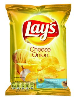 Lays Lays Chips Cheese Onion 40 Gram 20 Zakjes