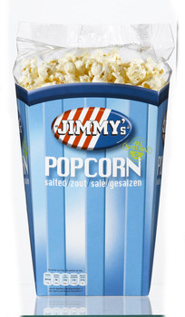 Jimmy's Popcorn Bak Zout 90 Gram 6 Stuks