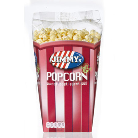 Jimmy's Popcorn Bak Zoet 150 Gram 6 Stuks