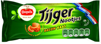 Duyvis Duyvis Tijgernootjes Bacon Kaas 40 Gram 20 Zakjes