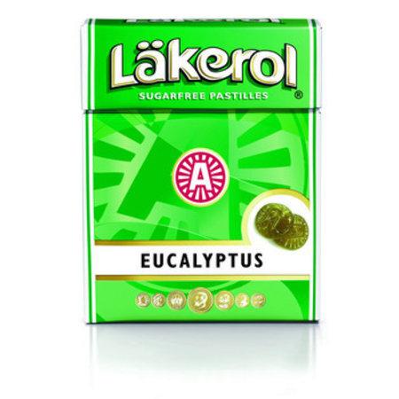 Läkerol Lakerol Eucalyptus 23 Gram 12 Stuks
