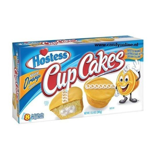 Hostess Hostess Cupcakes Orange 8 Stuks 383 Gram
