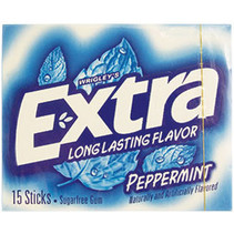 Wrigley's Extra Long Lasting Flavors Peppermint 15 Sticks
