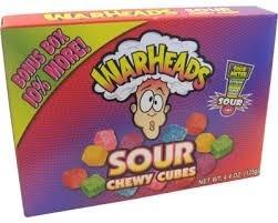 Warheads Warheads - Sour Chewy Cubes Videobox 113 Gram