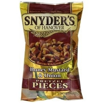 Snyders of Hanover Honey Mustard Onion Pretzel Pieces 125 Gram