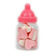 Baby Flesjes Gevuld Met Wit Roze Hartjes