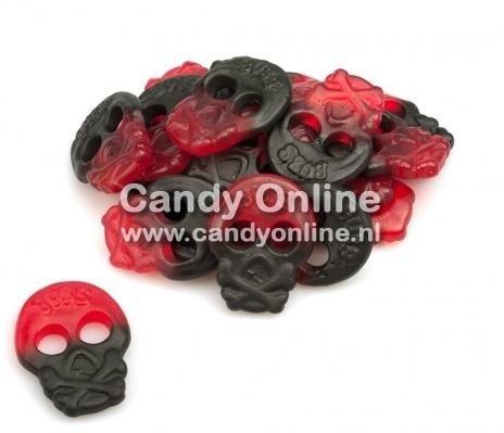 Bubs Bubs - Winegum Raspberry/Licorice Skulls 200 Gram