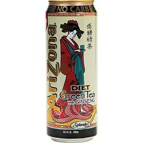 Arizona Arizona Zero Green Tea With Gingseng 680ml