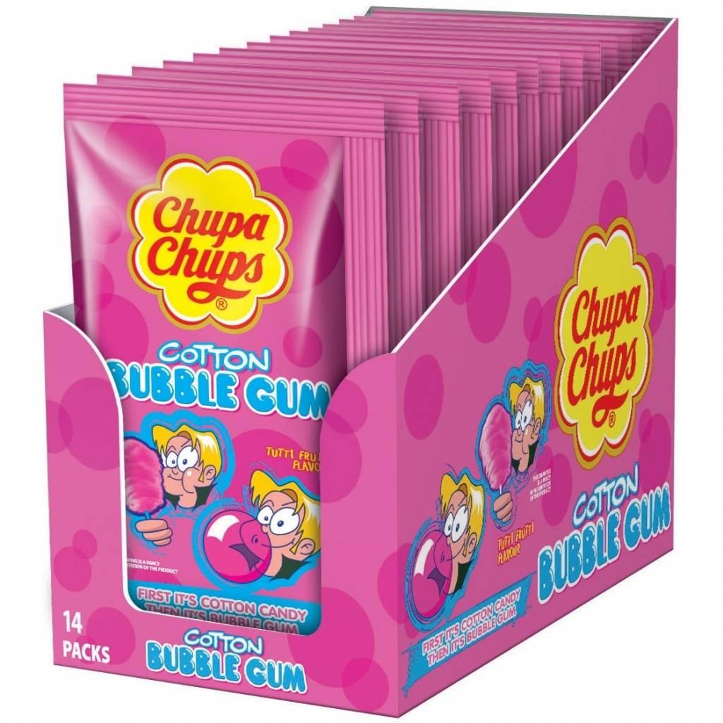 Chupa Chups Chupa Chups - Cotton Gum Tutti Frutti 12 Stuks