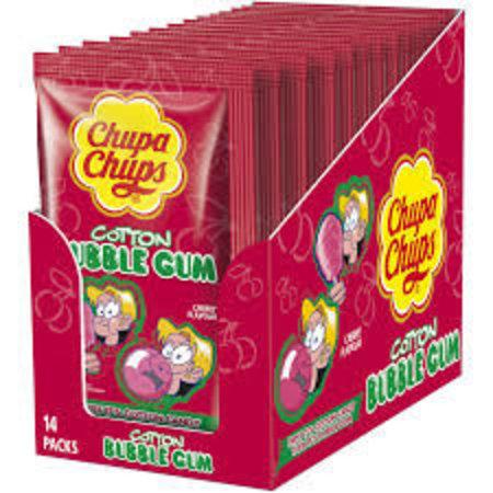 Chupa Chups Chupa Chups - Cotton Gum Cherry 14 Stuks