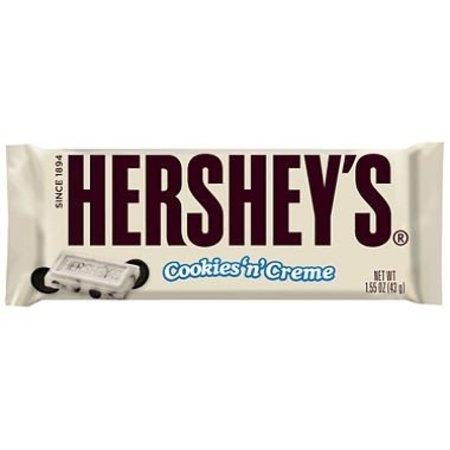 Hersheys Hershey's White Cookies N' Creme Bar 43 Gram
