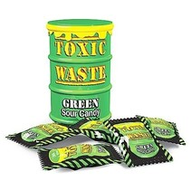 Toxic Waste Green Sour Candy Drum 42 gram 12 Stuks