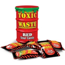 Toxic Waste Red Sour Candy Drum 42 Gram 12 Stuks