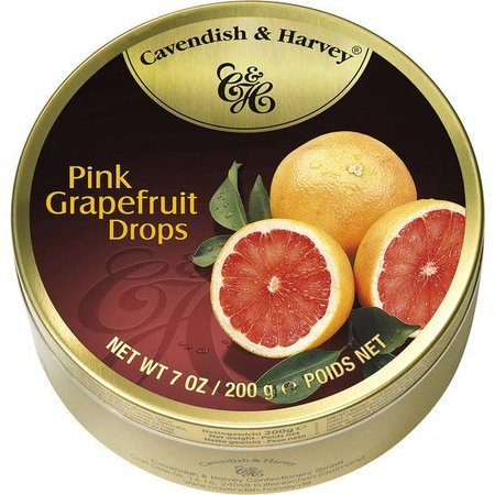 Cavendish & Harvey Cavendish & Harvey Pink Grapefruit Drops 200 Gram