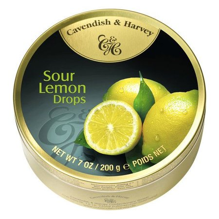 Cavendish & Harvey Cavendish & Harvey Sour Lemon Drops 200 Gram