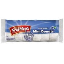 Mrs Freshley's Blueberry Mini Powdered Donuts 85 Gram