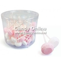 Dextrose Lolly's Wit/Roze 500 Gram