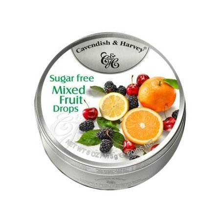 Cavendish & Harvey Cavendish & Harvey - Mixed Fruit Drops Suikervrij 175 Gram
