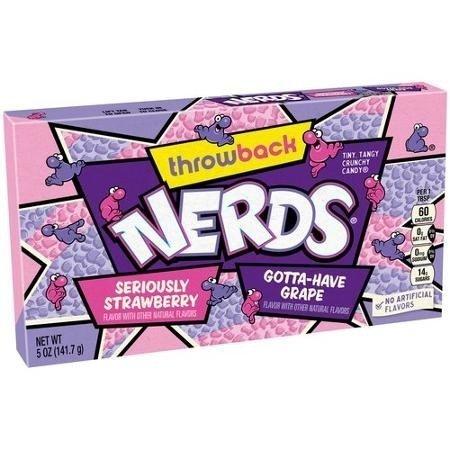 Wonka Wonka Nerds Throwback Grape & Strawberry Theatre Box 141 Gram