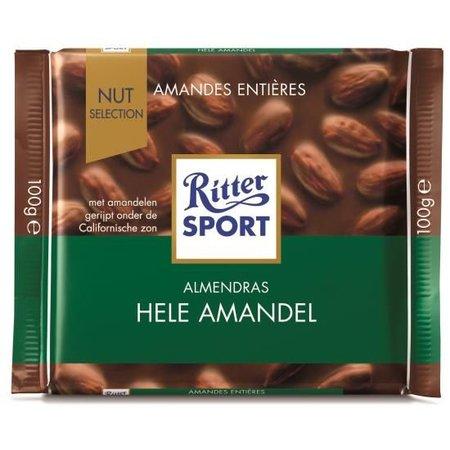 Ritter Sport Ritter Sport Whole Almond 100 Gram