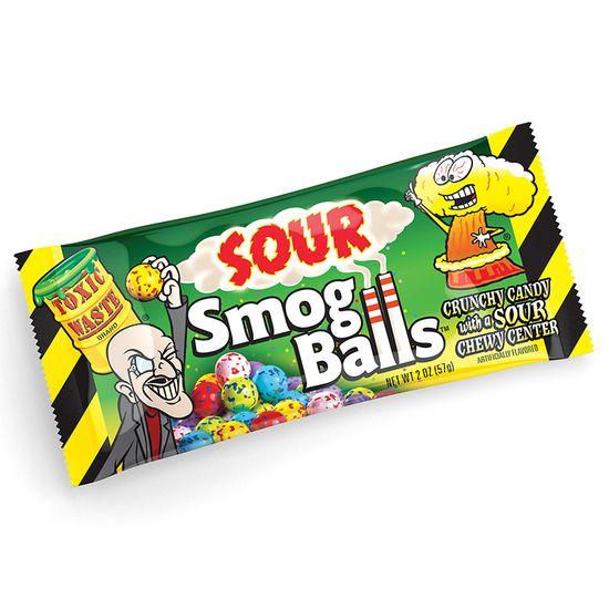 Toxic Waste Toxic Waste Smog Balls Sour Candy 48 Gram