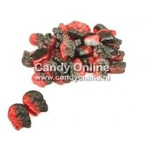 Bubs - Godis Raspberry/Licorice Micro Skulls 1 Kilo
