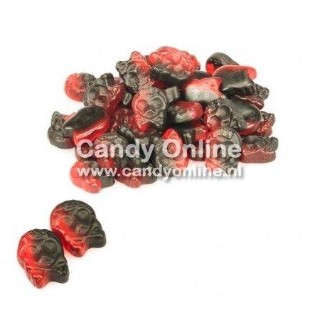 Bubs Bubs - Godis Raspberry/Licorice Micro Skulls 1 Kilo