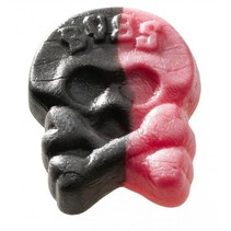 Bubs - Godis Zweedse Drop-Framboos Doodskoppen Foam 1 Kilo