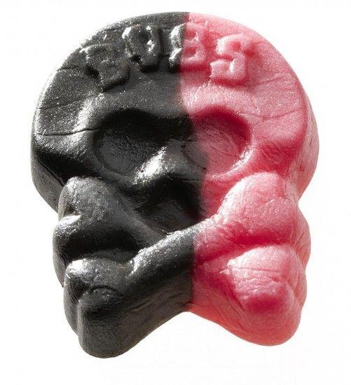 Bubs Bubs - Godis Zweedse Drop-Framboos Doodskoppen Foam 1 Kilo