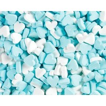 Fortuin - Wit Blauwe Pepermunt Hartjes 250 Gram