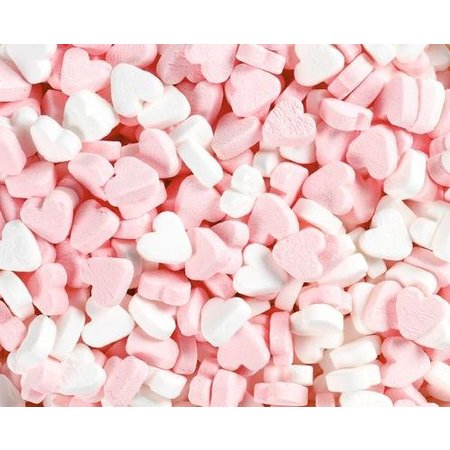 Fortuin Fortuin - Wit Roze Pepermunt Hartjes 250 Gram