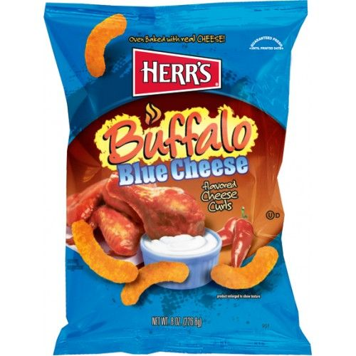 Herrs Herr's Buffalo Blue Cheese Curls 199 Gram