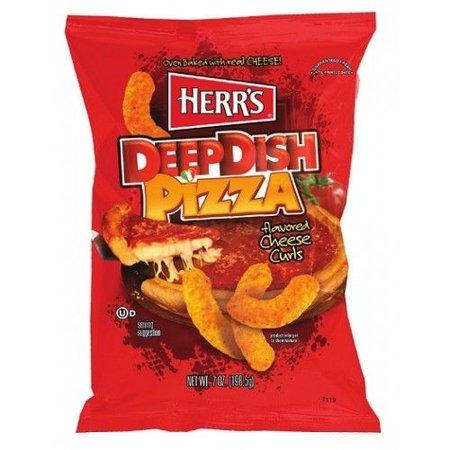 Herrs Herr's Deep Dish Pizza Curls 199 Gram