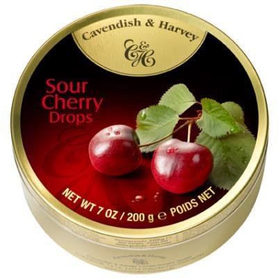 Cavendish & Harvey Cavendish & Harvey Sour Cherry Drops 200 Gram