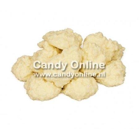 Overige CandyOnline - Cocosrotsjes Yoghurt (Wit) 200 Gram