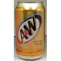 A&W Cream Soda 355ml 12 Blikjes