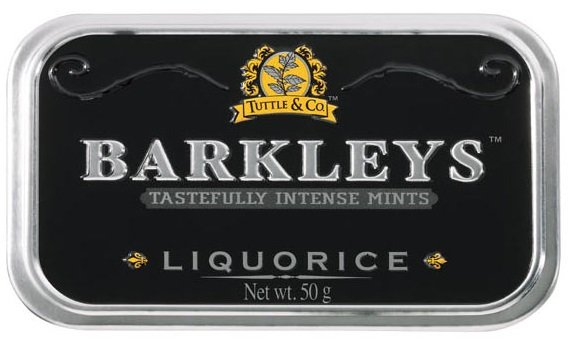 Barkleys Barkleys Tin Liquorice 50 Gram