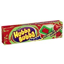Hubba Bubba Max Strawberry & Watermelon 5 Piece Bubblegum
