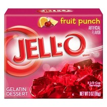 Jell-O - Fruit Punch Gelatin 85 Gram