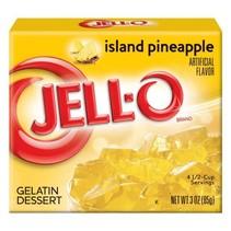 Jell-O - Island Pineapple Gelatin 85 Gram